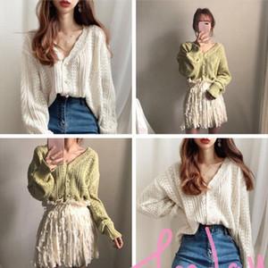 women sweater 2020 New Spring Women Cardigans Hollowed Women Cardigans Knit Sweater Drop Shipping High Quality