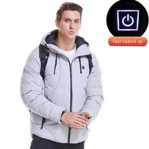 USB Heated Men Jacket Men 2020 Brand Casual Mens Jackets And Coats Thick Parka Wind Breaker Veste Homme Coat Mont 4XL
