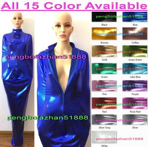 Sexy 15 Color Shiny Metallic Mummy Suit Costumes With internal Arm Sleeves Unisex Sleeping Bags Mummy Costumes Sleepsacks Body Bags P442