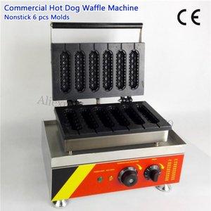 Straße Französisch Muffin Hot Dog Waffel Maker Frühstück Snack Lolly Waffle Baker Maker Timer 220V 110V