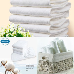 Hot Top Top Reusable 2020 baby Diapers Cloth Diaper Inserts 1 piece 3 Layer Insert 100% Cotton Washable babies care Eco-friendly diaper 10pc