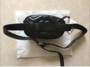 2021 Bolsas de la cintura de la PU Mujeres Marmont Pack Bags Bag Bum Bag Gold Cadena Bolsa de cinturón Mujer Money Phone Handy Cintura Monedero Bolsa de viaje Sólido LKLKO