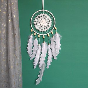 Creative New Simple White Curly Dream Catcher Pendant Ins Girl Soft Girl Dreamcatcher Home Decoration
