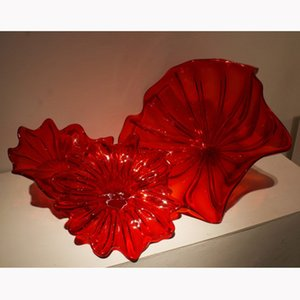 2020 Art Deco Moderno Deco Chihuly Style Blown Glass Wall Plates Restaurant Big Murano Glass Glass Lights