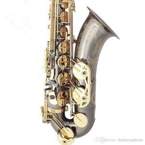 Nuovo sassofono del sassofono tenore di alta qualità sax B sassofono tenore piano che gioca professionalmente il paragrafo Musica Black Saxophone Trasporto libero
