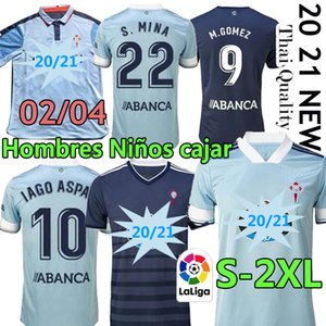 Retro 2002 04 RC Celta de Vigo Futebol Jerseys 2020 2021 Iago Aspas Hugo Mallo Santl Mina Camiseta Futbol Homens Adulto Kits Kits Football Shirt