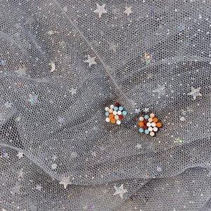 Apply Sweet Girl Heart Fashion Color Stud Earrings Daily Wild Silver Earrings Simple Earrings Wholesale Hot Jewelry