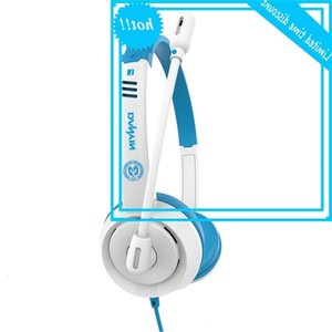 Microfono per cavi per bambini, auricolare con connettore da 3,5 mm sopra l'orecchio, telefono cellulare ricco di voce, computer, apprendimento online