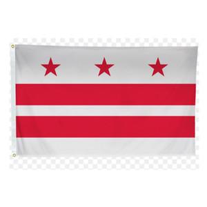 États-Unis Amérique Washington DC State Drapeaux 3'x5'ft 100d Polyester extérieur de haute qualité avec deux œillets en laiton