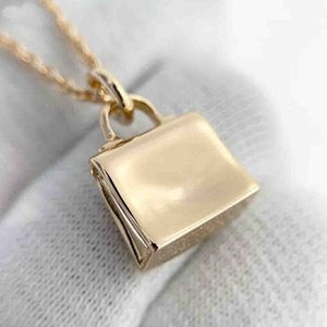 S925 silver pendant nekclace with padlock with diamond in 18k gold plated for women wedding jewelry gifts free shipping PS8047