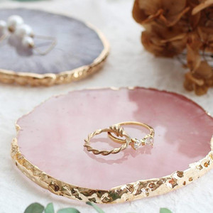 Resin Jewelry Display Plate Necklace Ring Earrings Display Painted palette Tray Jewelry Holder Organizer Decoration