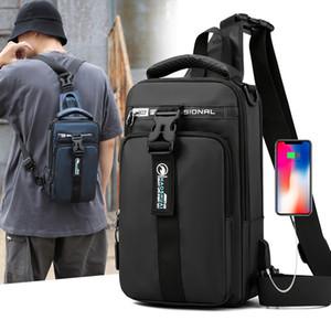 Multifunction Crossbody Bag Men Chest Pack Short Trip Messengers Chest Bag Waterproof Large Capacity Canvas