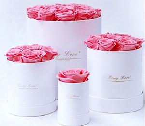 Flores eternas que sostienen el cubo Día de San Valentín Caja de regalo Rose Decorativo Flor Novia Esposa Festival Romántico Presente