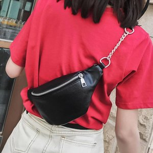 2019 Newest Style Women Men Waist Bag Fanny Pack Pu Bag Belt Purse Small Purse Phone Key Pouch White Black Waist Packs
