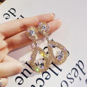 Needle Super Drop-shape Charm Earrings Female Women Fashion earring Europe and America Party Wedding Jewelry Earrings