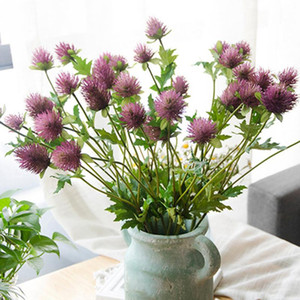 Artificial 3 Heads Thorn Parsley Flower Branch DIY Artificial Flower Plastic Simulation Flowers Home Living Room Wedding Decor
