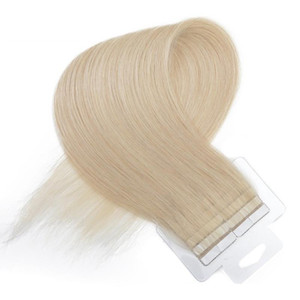 Grade 8A-- 40pcs &2.5g per piece Tape In Hair Extensions Remy Brazilian Straight Hair 100% Human Hair Skin Weft #1b 2 4 613 60