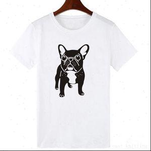 Mode French Bulldog Print T-shirt Femmes Casual T-shirt pour filles Summer manches courtes Tshirt Tops Tshirt Femme
