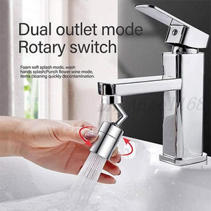 Filter Faucet Spray Head Bubbler 720 Degrees Universal Splash Anti Splash Filter Faucet Movable Kitchen Tap Water Saving Nozzle Sprayer