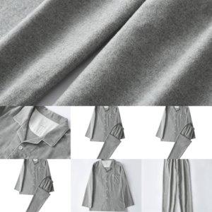 685 Sets Long Outfits MUJI-style Christmas Clothing Plaid Pants Deer Printed Pajamas Family plaid pajamas Top Sleeve Neck Matching Sets Xmas