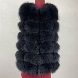 real Fox Fur Vest short jacket height woman winter warm Natural sleeveless