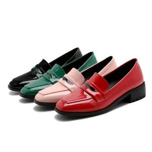 حذاء اللباس حجم كبير 33-43 جودة عالية 2021 ربيع الخريف المرأة الأزياء ساحة تو ميد الكعوب مضخات 4 ألوان