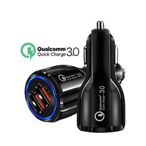 Top Quality QC3.0 fast charge 3.1A Qualcomm Quick Charge car charger Dual USB Fast Charging phone charger