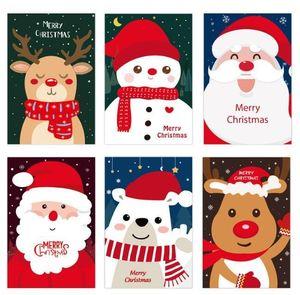 Creative Santa Claus Snowman Greeting Card Merry Christmas card new year cartoon Blessing cards 10*15cm Christmas decorations