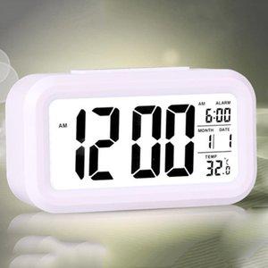 Electric Desktop Clock Electronic Alarm Digital Big LED Screen Clock Data Time Calendar Desk Watch