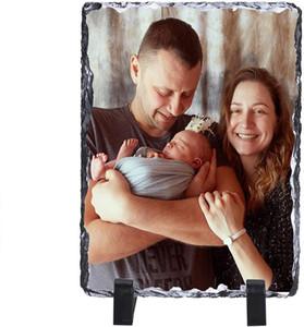 Personalized slate photo frame custom DIY photo frame add any photo text gift creative baby pet treasure birthday wedding