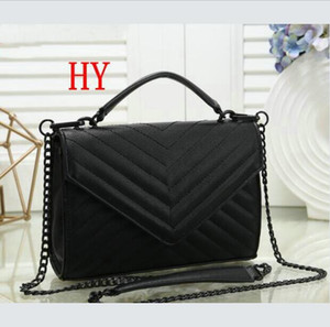 New Fashion classics black chain shoulder Handbag loulou women sheepskin leather high quality purse bag fashion diagonal bag GU3215
