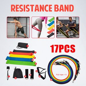 VIP 17 Pcs Set Latex Resistance Bands Crossfit Training Exercise Yoga 201216