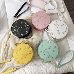 레이스 작은 라운드 가방 여성 2020 새로운 패션 여성 만화 귀여운 메신저 가방 자수 여성 가방 휴대용 수 있습니다