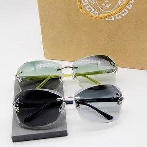 High Grade Elegant Female Frameless Sunglasses Glasses 1506