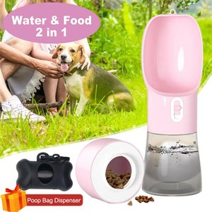 2 in 1 Portable Pet Dog Water and Food Bottle for Walking Food Water Feeder for Dogs Drinking Bowl Puppy Cat Water Dispenser