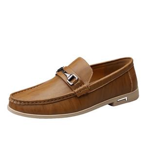 Wood color dress shoes men business trip shoes fading colour shoe knot casual dress shoes Men z517