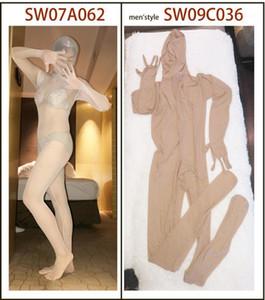 XYFWW Net yarn fabrics with mask and gloves mens bodystockings SW09C0361