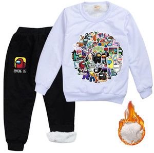 Among US Tracksuit Sets Youth t-shirt and Sweatpants Suit Outfit Fashion Sweater Set for Boys Girls