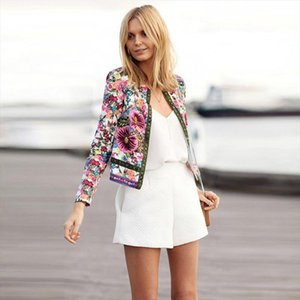Women Autumn Summer Jacket Female Long Sleeve Coat Floral Printed Casual Jackets Ladies Patch Outfits for Women New Fashion