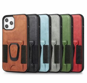 2020 Pu Leather Phone Case Cover With Magnetic Ring Bracket Stand Holder For Iphone 11 12 Pro Max Xs Max X jlllht car_2010