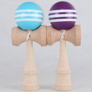 많은 색상 18.5cm * 6cm PU kendama 공 일본 전통 우드 게임 장난감 교육 선물, 180pcs 활동 선물 장난감 FWF3372