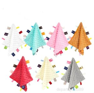 Appease Toy Hanging Peas Sounding Towel Super Soft Cloths Baby Teething Toys Security Blanket OWA829