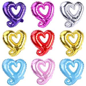18 polegadas gancho forma coração alumínio balões de alumínio festa de casamento decoração dia dos namorados dia dos namorados bebê chuveiro ar balloons gwa2960