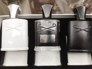 HIGH QUALITY Men Fragrance Set 3pcs set Intense Scent Silver Mountain  aventus Green Irish 30ML*3 FAST Free Shipping