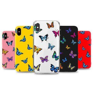 Butterfly phone case for iPhone 12 mini pro max 11 x xr xs 7 8 Plus SE soft tpu cellphone back cover