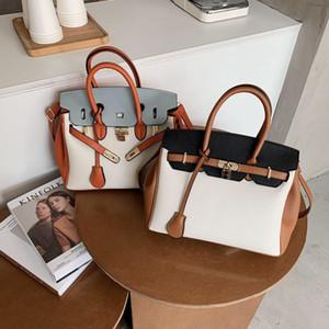 Liteller Muster Birkin Tasche Western Stil Handtasche Tasche für Frauen 2021 Winter Neue Trendy Große Kapazität Schulter Crossbody Kelly Bag