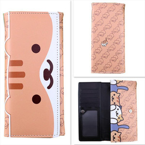 Hot Sale Neko Atsume Cat Backyard Shiba Inu Cute Cartoon Animal Cats Dogs Anime Students Men Women Long Wallet Card Holder Purse Package