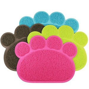 Pet Dog Mat Pad Paw PVC Bed Dish Placements Litter Mat Pet Food Water Feed Placement Pets Carpet Pet Accessories DHB4527