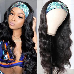 Gaga rainha corporal onda headband perucas 100% peruca de cabelo humano peruca do corpo brasileiro peruca de cabelo 8-26inch remy wig de cabelo humano ondulado