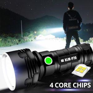 Super Powerful XHP70 LED Flashlight XHP50 Tactical Torch USB Rechargeable Linterna Waterproof Lamp Ultra Bright Lantern Camping 210322